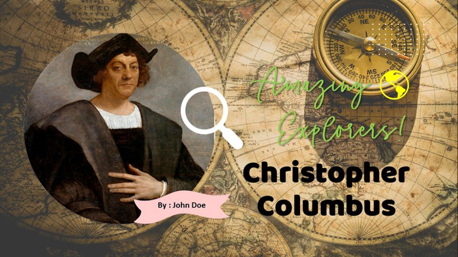 christopher columbus google slides and ppt template