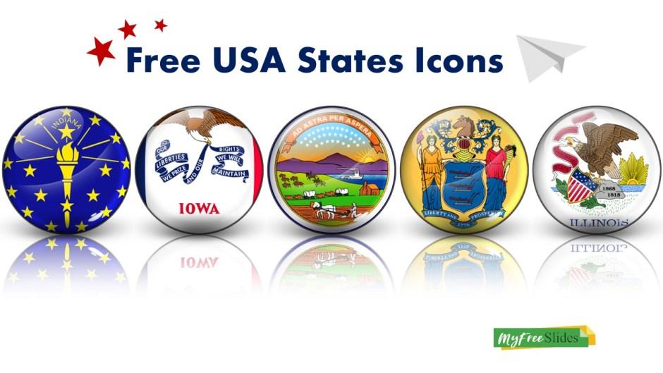 Free USA States Glossy Icons