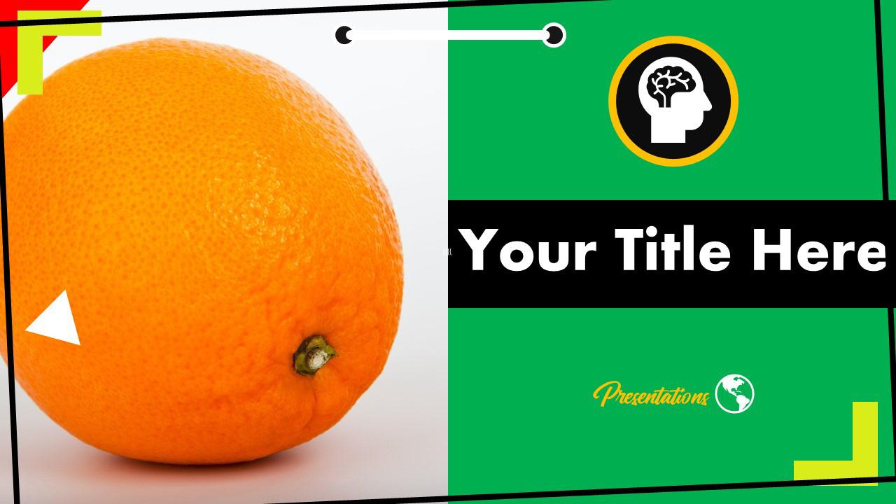 Citrus Orange Fruit Powerpoint Template And Google Slides