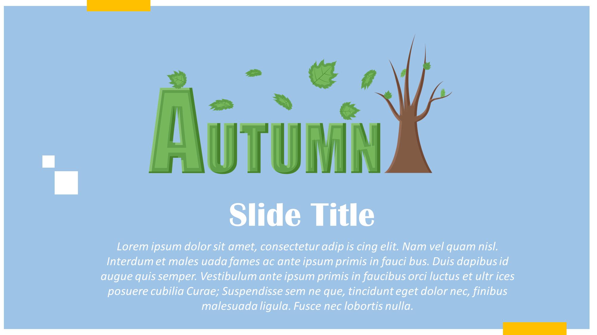 Autumn Season Presentation Slide