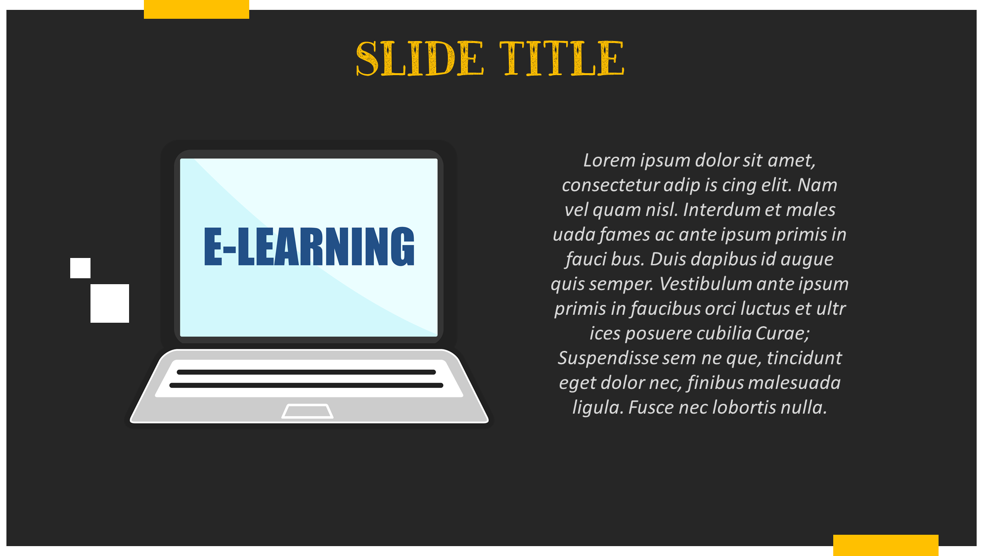 E-Learning Clipart Presentation Slide