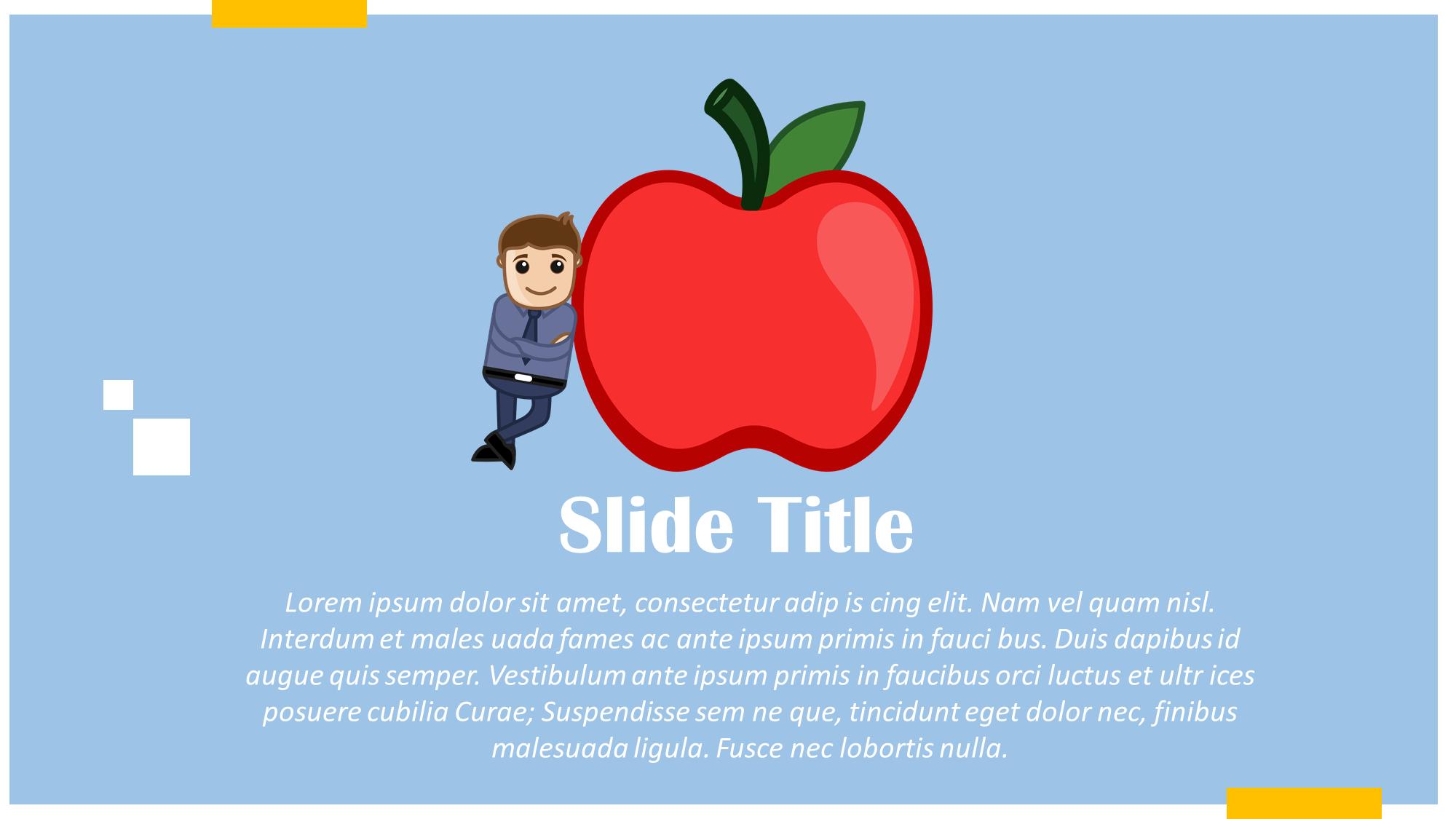 Eat Healthy Cartoon Presentation Slide