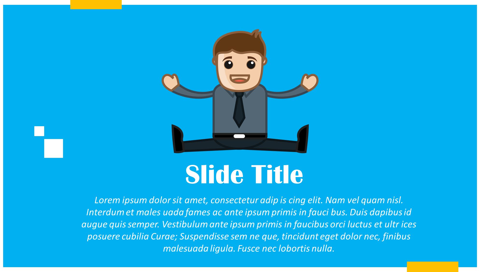 Excited Cartoon Presentation Slide