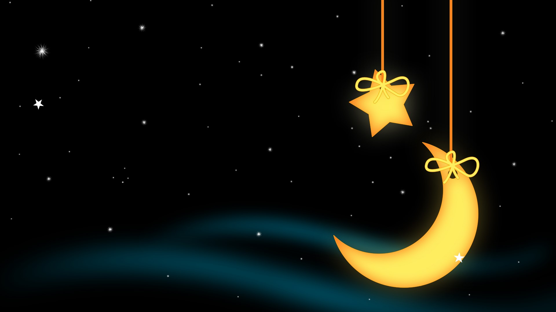 Lullaby Free Background stars and moon