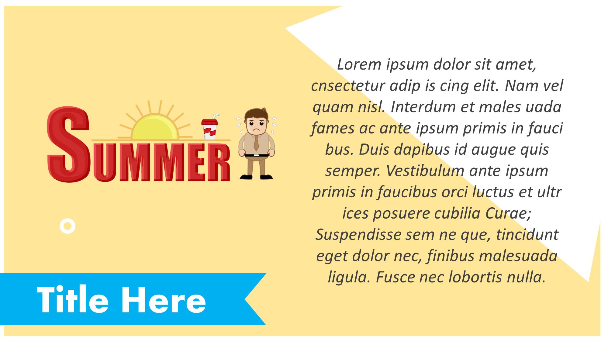 Summer Presentation Slide