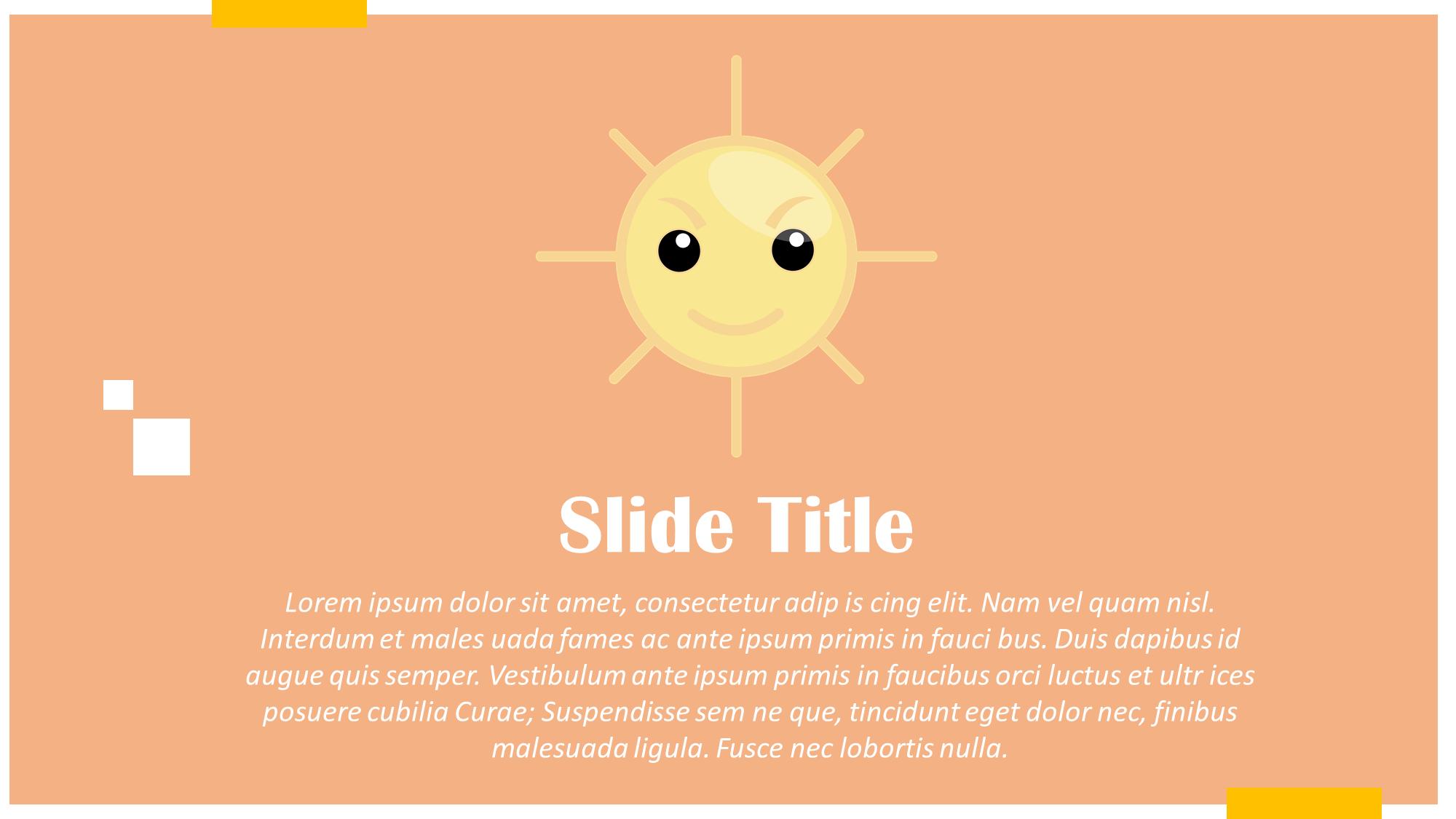Sunny Day Presentation Slide