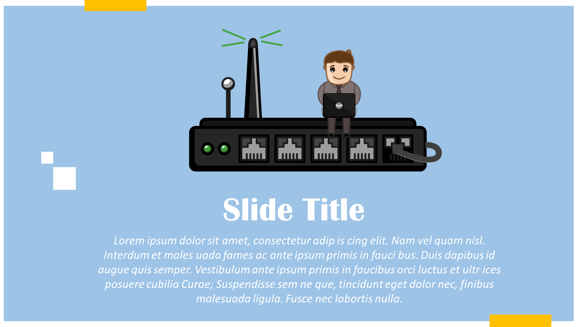 Wifi Router Cartoon Presentation Slide