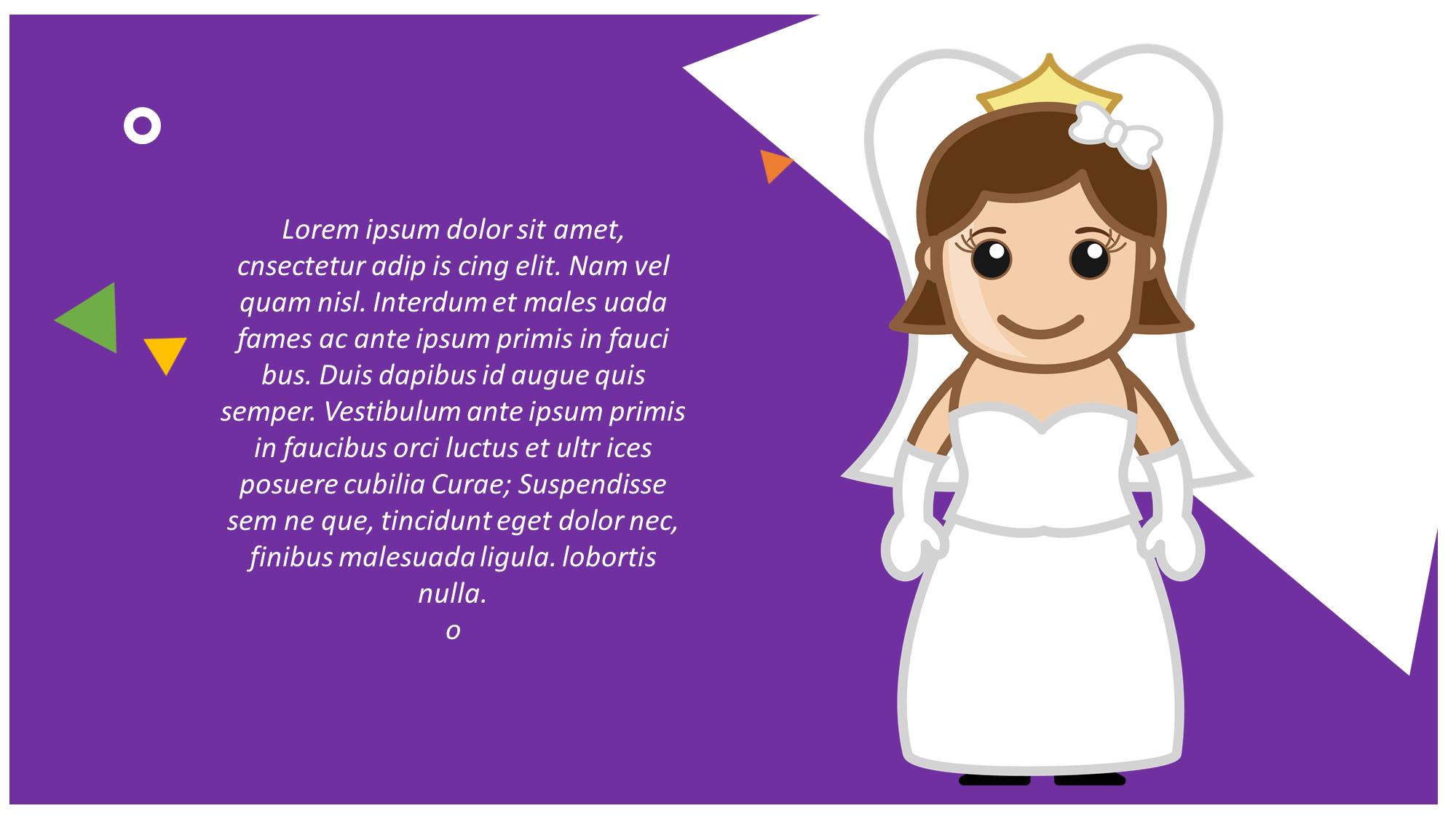 bride presentation slide