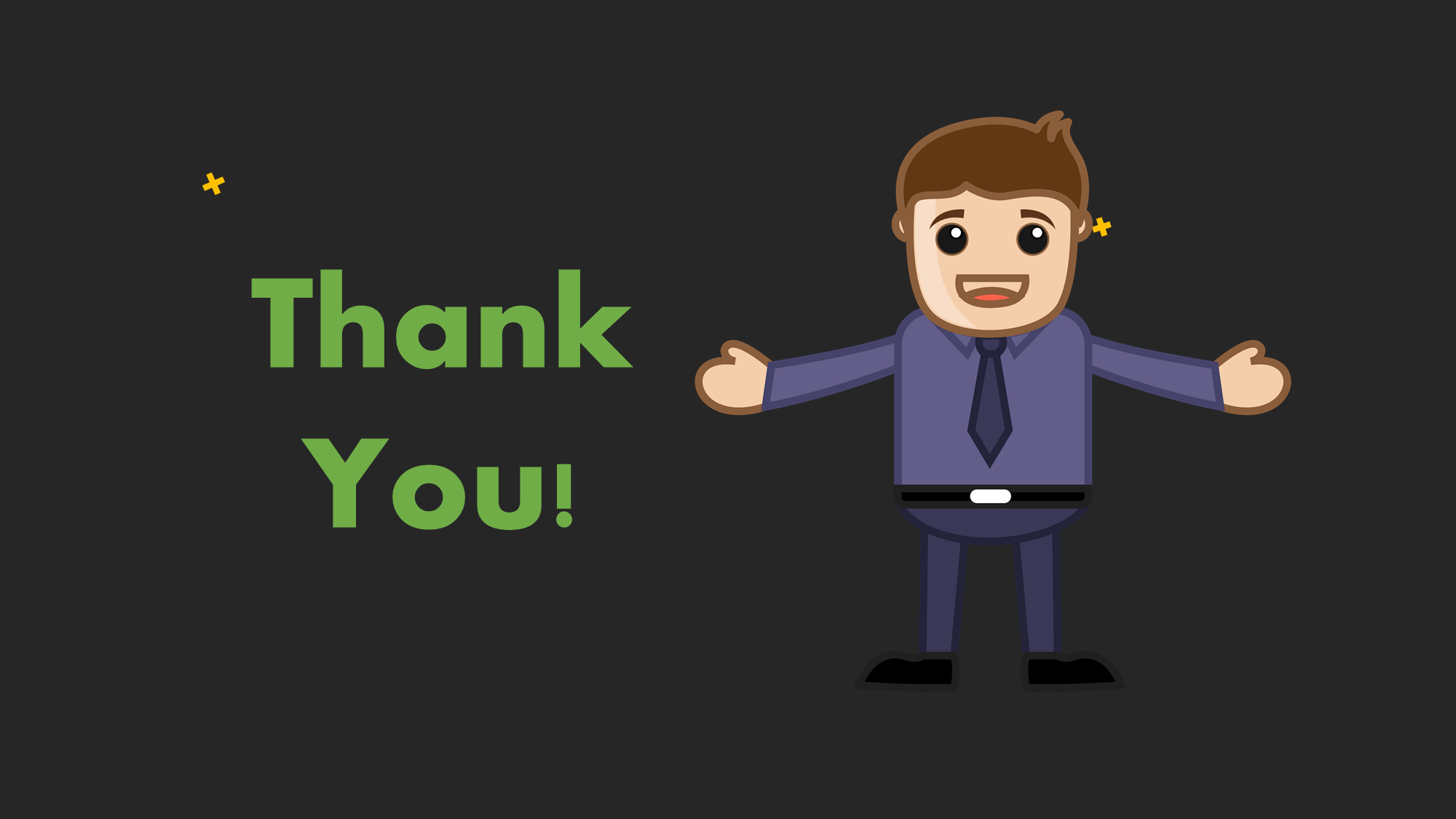 cartoon thank you slide
