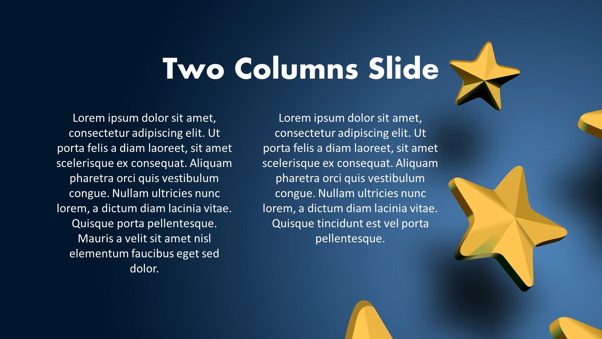 golden stars on blue background free slide