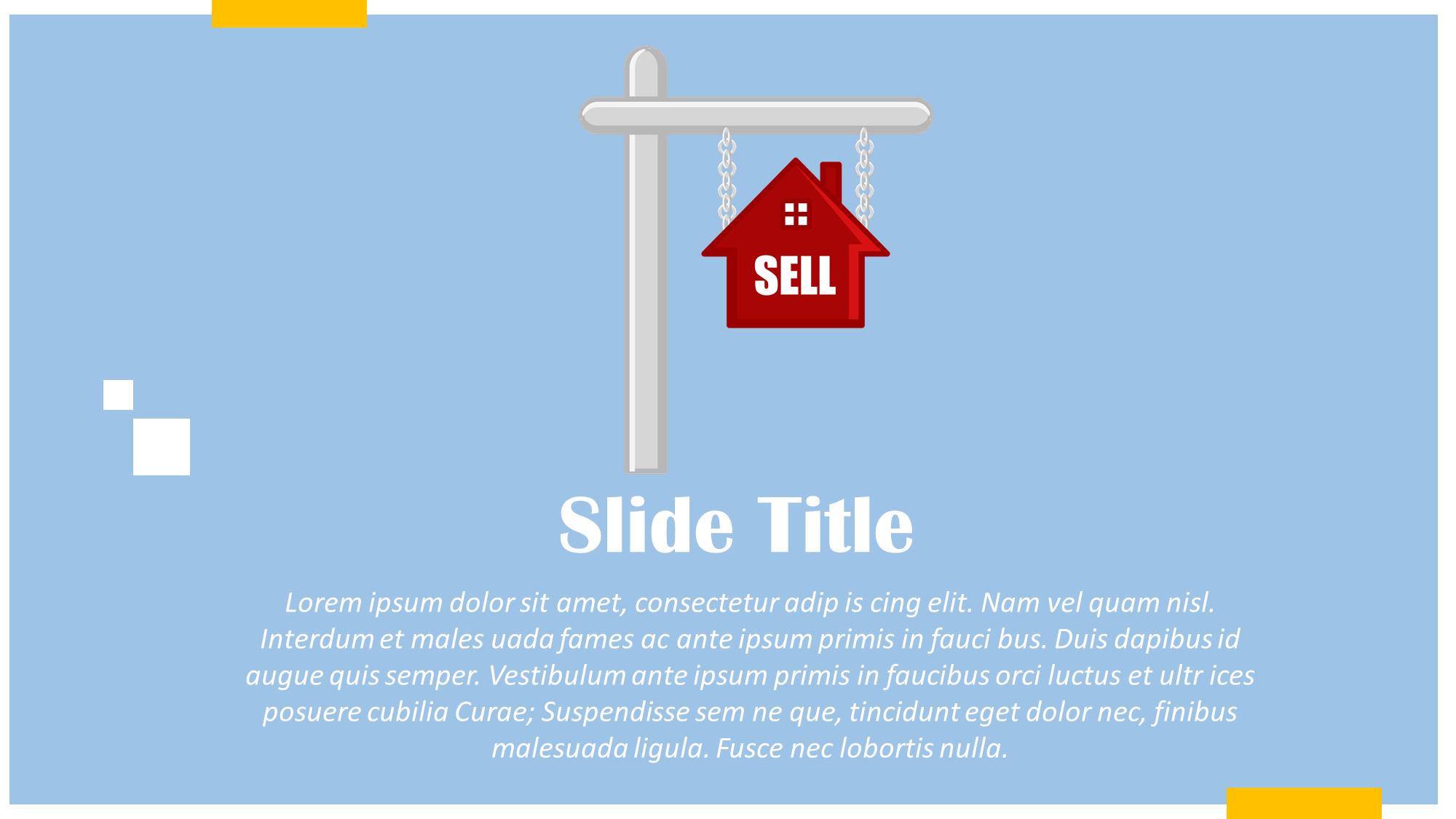 home for sale presentation slide