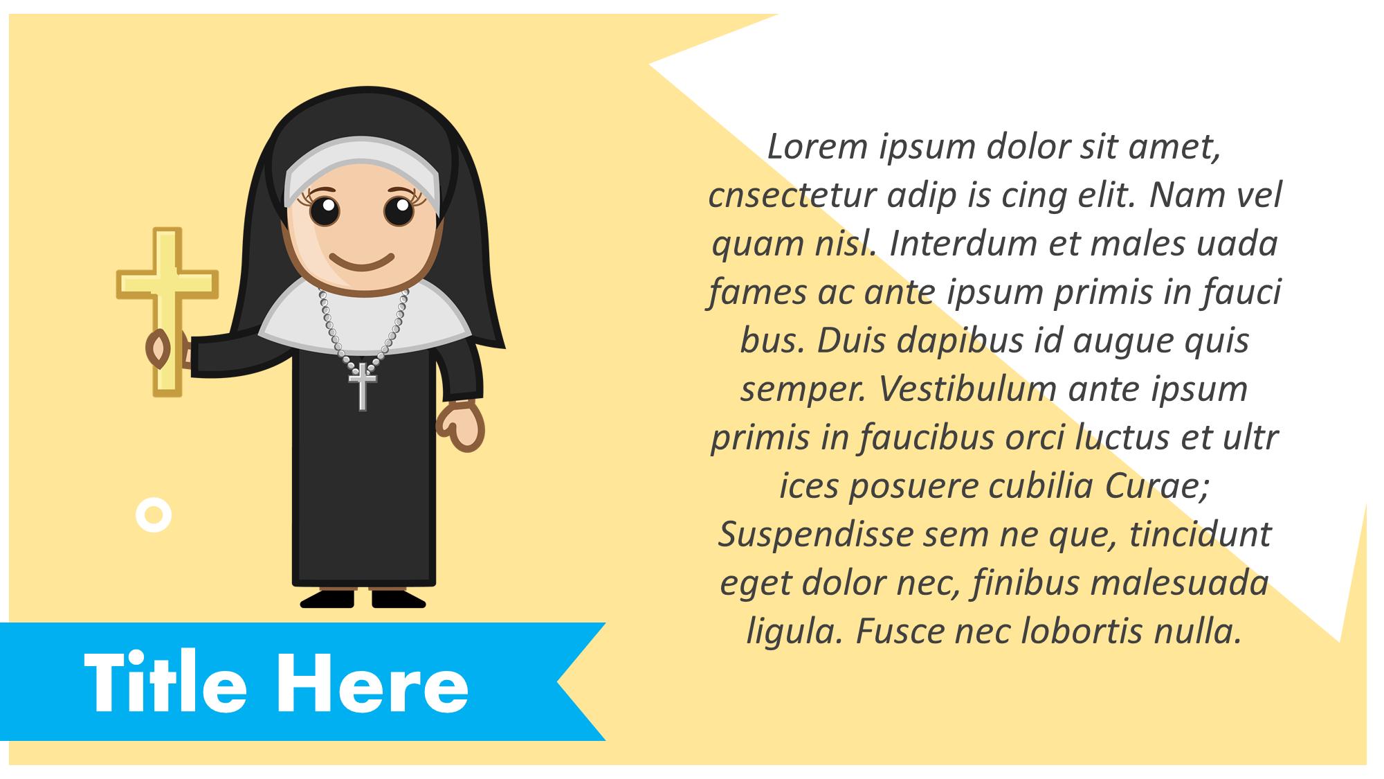 nun cartoon presentation slide
