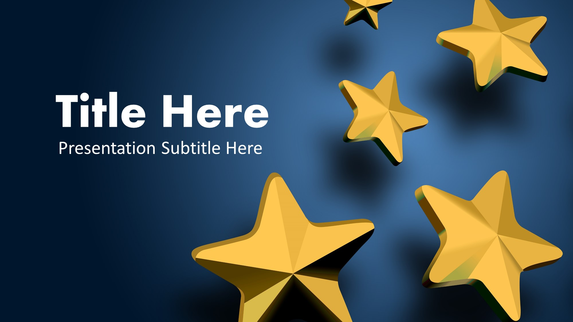 stars google slide theme