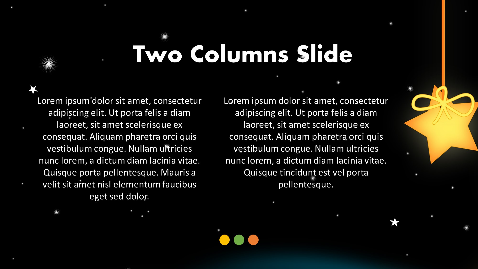 stars in night presentation slide