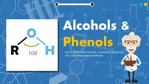 Alcohols And Phenols PowerPoint Template