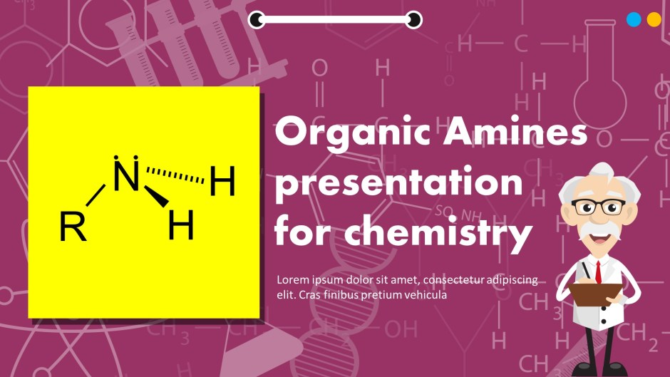 Organic Amines Presentation For Chemistry PowerPoint Template