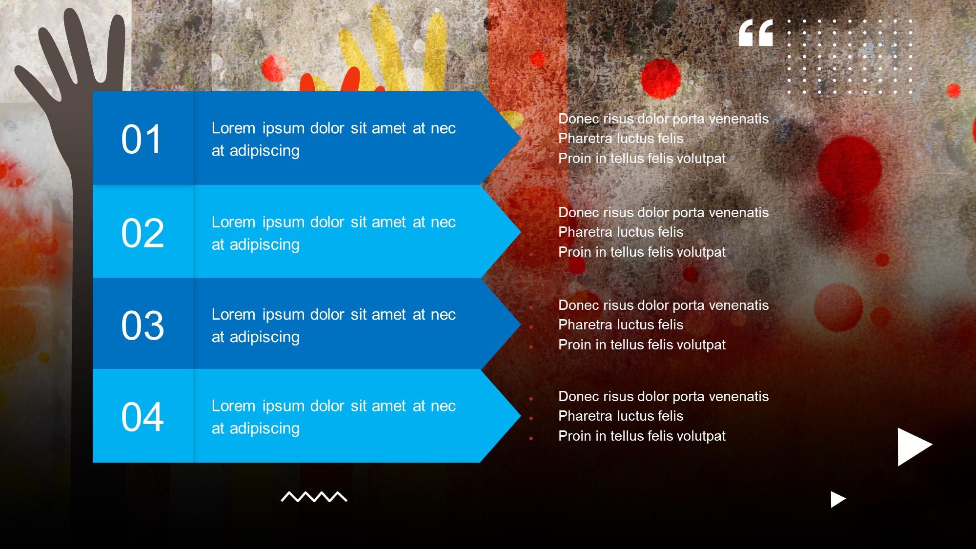 4 panel info slide
