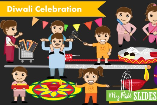 Hindu Deepawali Festival Clipart PPT