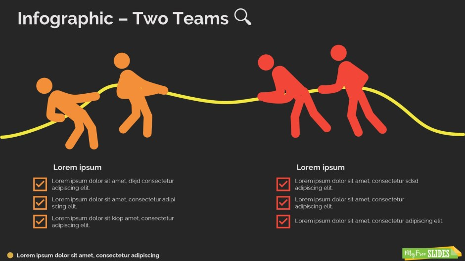 Two Teams Infographic-dark