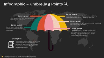 Umbrella 5 Points Infographic-dark