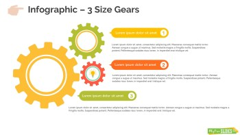 3 Size Gears Infographic Slide