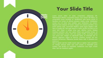 Animated Clock Presentation PPT Template