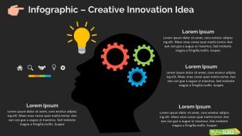 Infographic Slide Creative Innovation Idea Dark