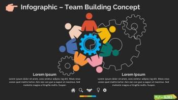 Infographic Slide Team Building Concept Dark