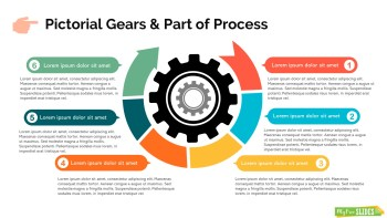Pictorial Gears & Part Of Process Infographic Slide
