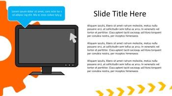 computer monitor presentation slide