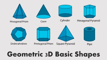 geometric 3d shapes presentation slide