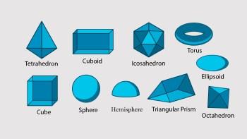 geometric 3d shapes slide