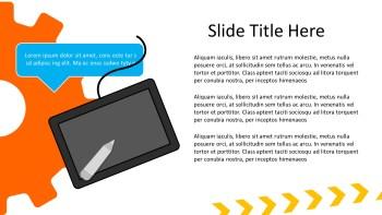 graphic tablet presentation slide