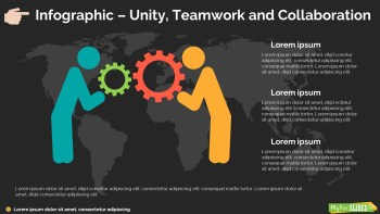 Unity, Teamwork and Collaboration Slide Dark Version