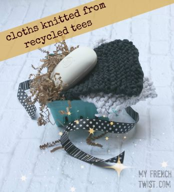 cloths knitted from upcycled tees - my french twist