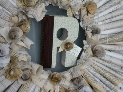 book wreath - my french twist