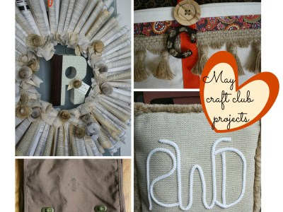 may craft club projects - my french twist