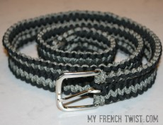 woven paracord belt