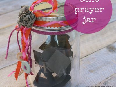 boho prayer jar with My French Twist