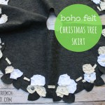 made – boho felt christmas tree skirt