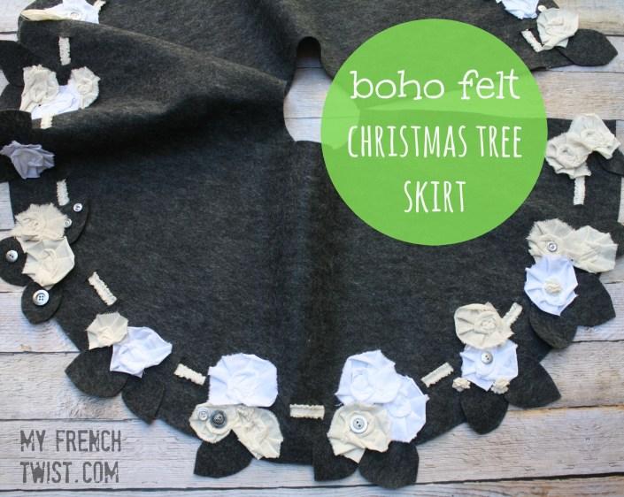 boho felt christmas tree skirt with myfrenchtwist.com
