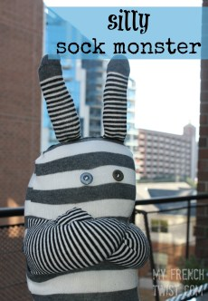 sock monster with myfrenchtwist.com