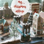 setting up a realistic christmas village