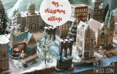 setting up a realistic christmas village - myfrenchtwist.com