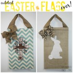 burlap easter flags - myfrenchtwist.com