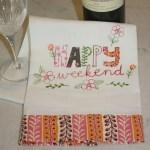 happy weekend tea towel - myfrenchtwist.com