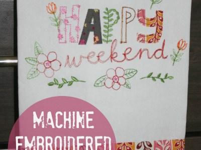 machine embroidered tea towel - myfrenchtwist.com