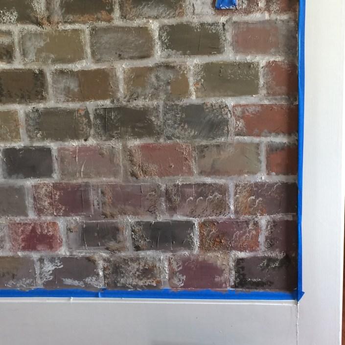 faux brick wall - myfrenchtwist.com