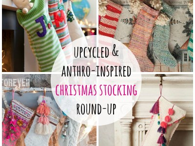 upcycled & anthro-inspired christmas stockings - myfrenchtwist.com