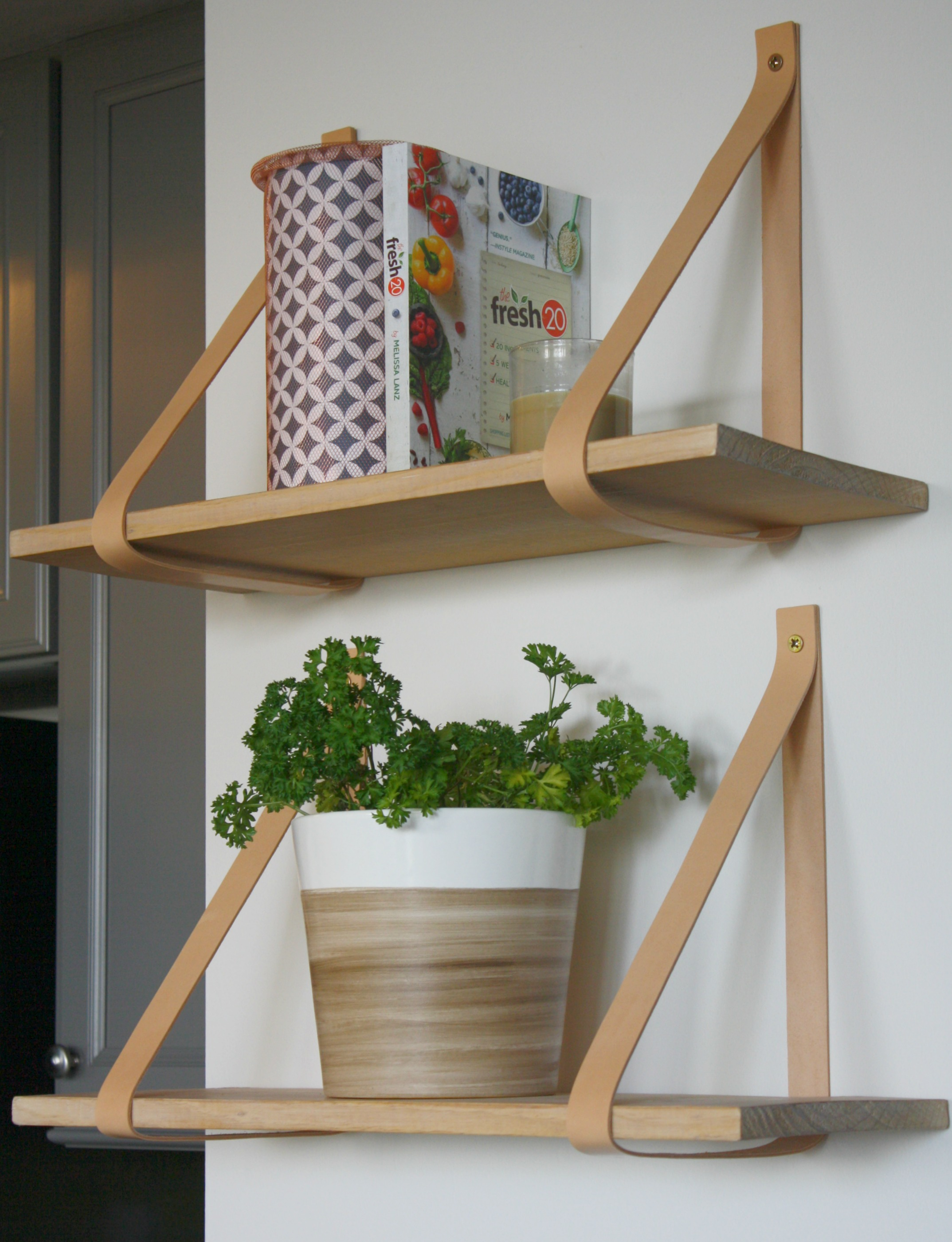 shop my home leather strap shelves - myfrenchtwist.om